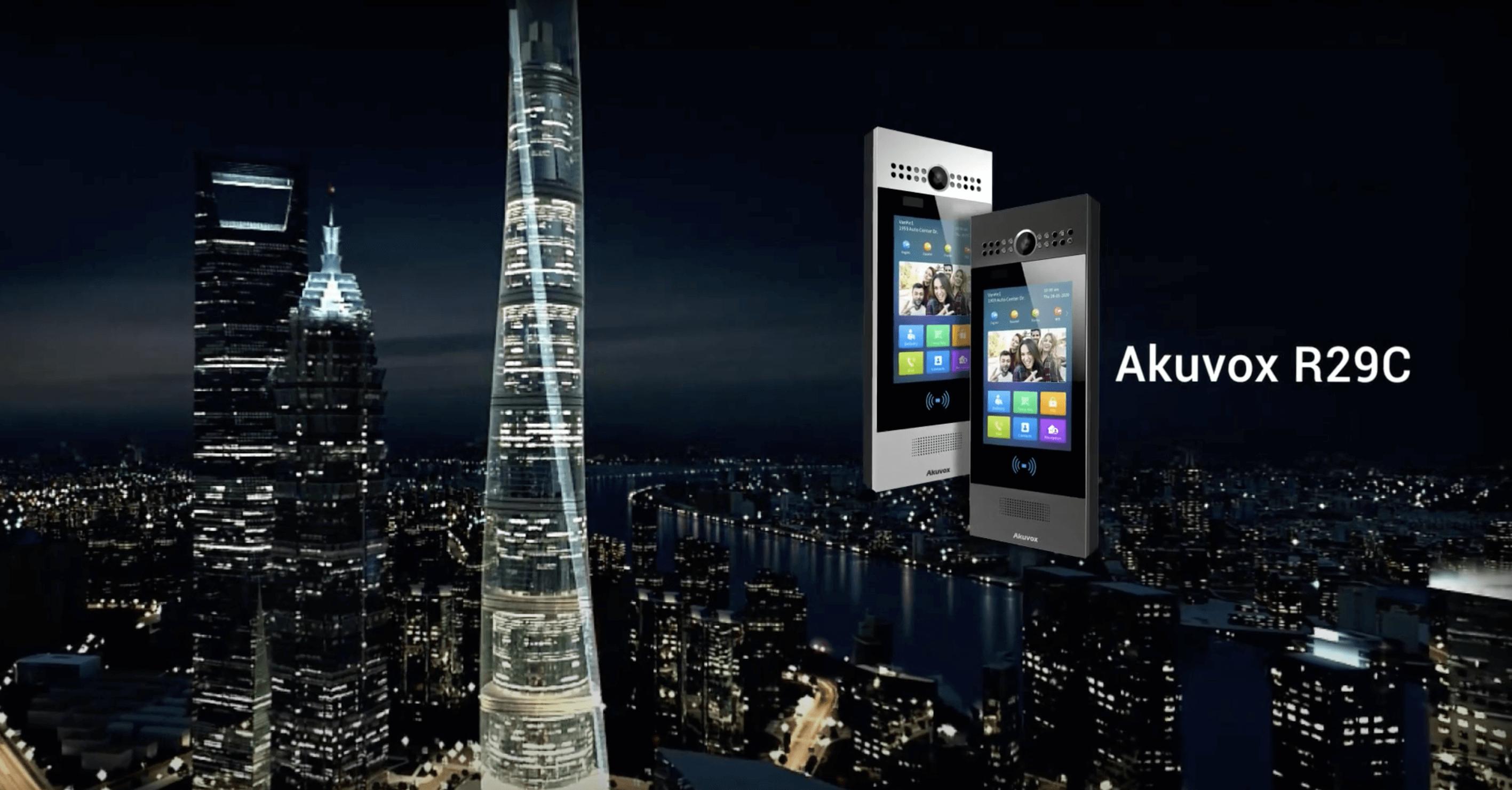 Akuvox社高機能インターフォンR29C紹介ビデオ