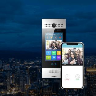 モバイルLTE 型顔認証インターフォン