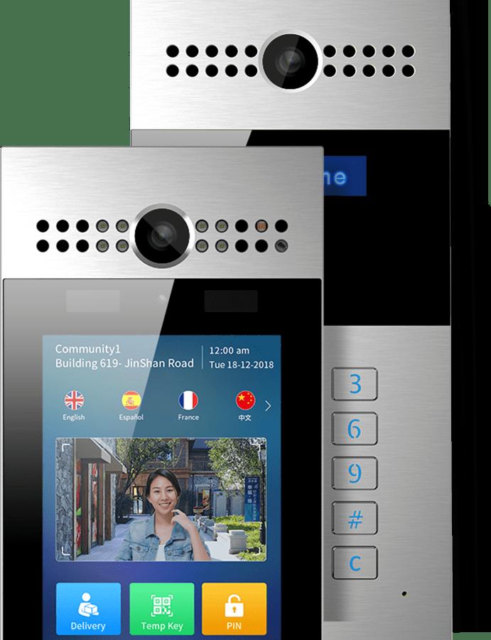 顔認証・QRコード認証など多彩な認証とWiFiやスマートフォンアプリでスマートインターフォンを